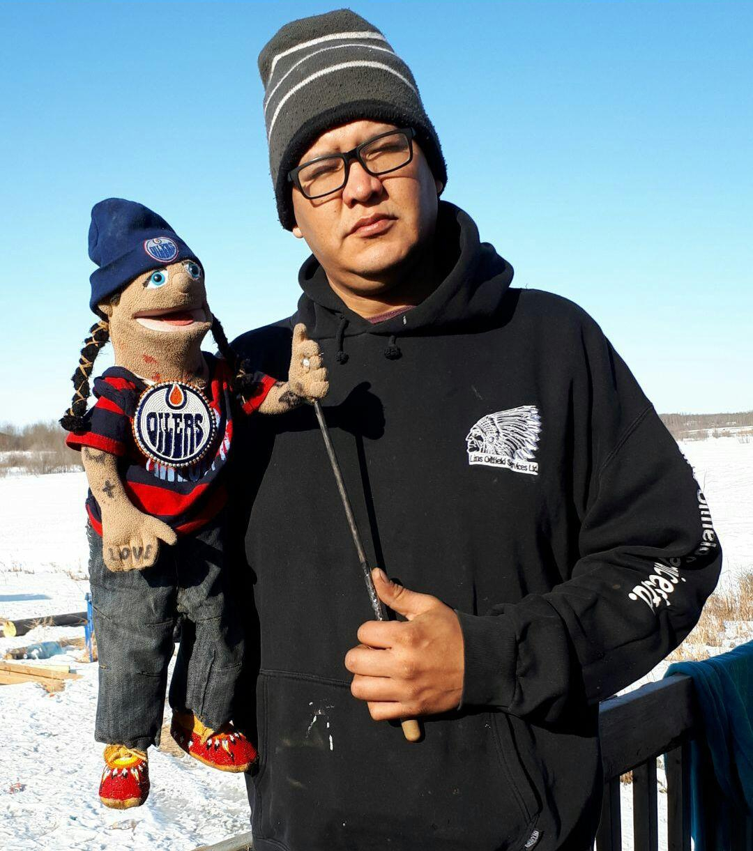 Donnie Mac, Onion Lake Cree Nation, and Emery Burningrass are always on the road performing various gigs to promote awareness, culture and language and importantly, humour.
