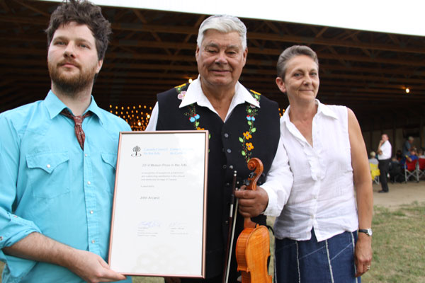 John Arcand receives Molson Prize at 17th Annual John Arcand Fiddle Fest