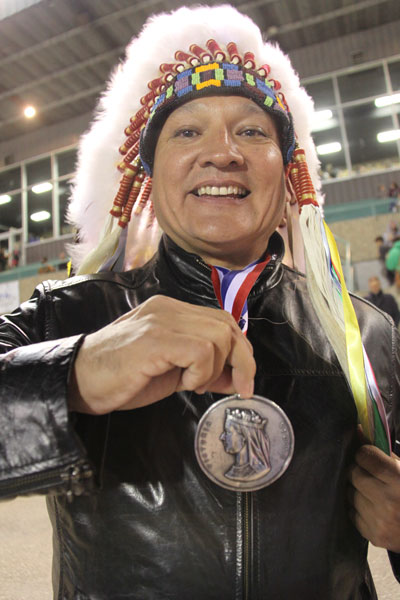 Chief Darryl Watson of Mistawasis First Nation proudly showed their Treaty medal to anyone who asked.
