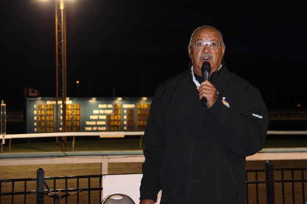 Eugene Arcand was the master of ceremonies and kept the crowd engaged all night.