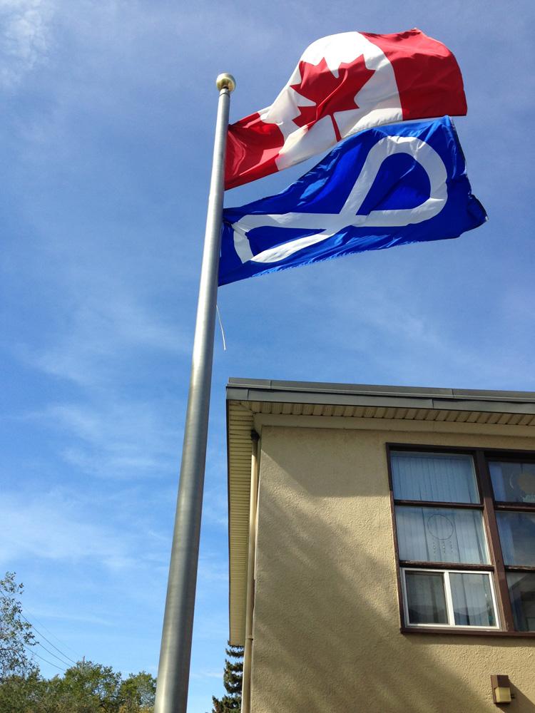 Métis flag flies at St. Michael School