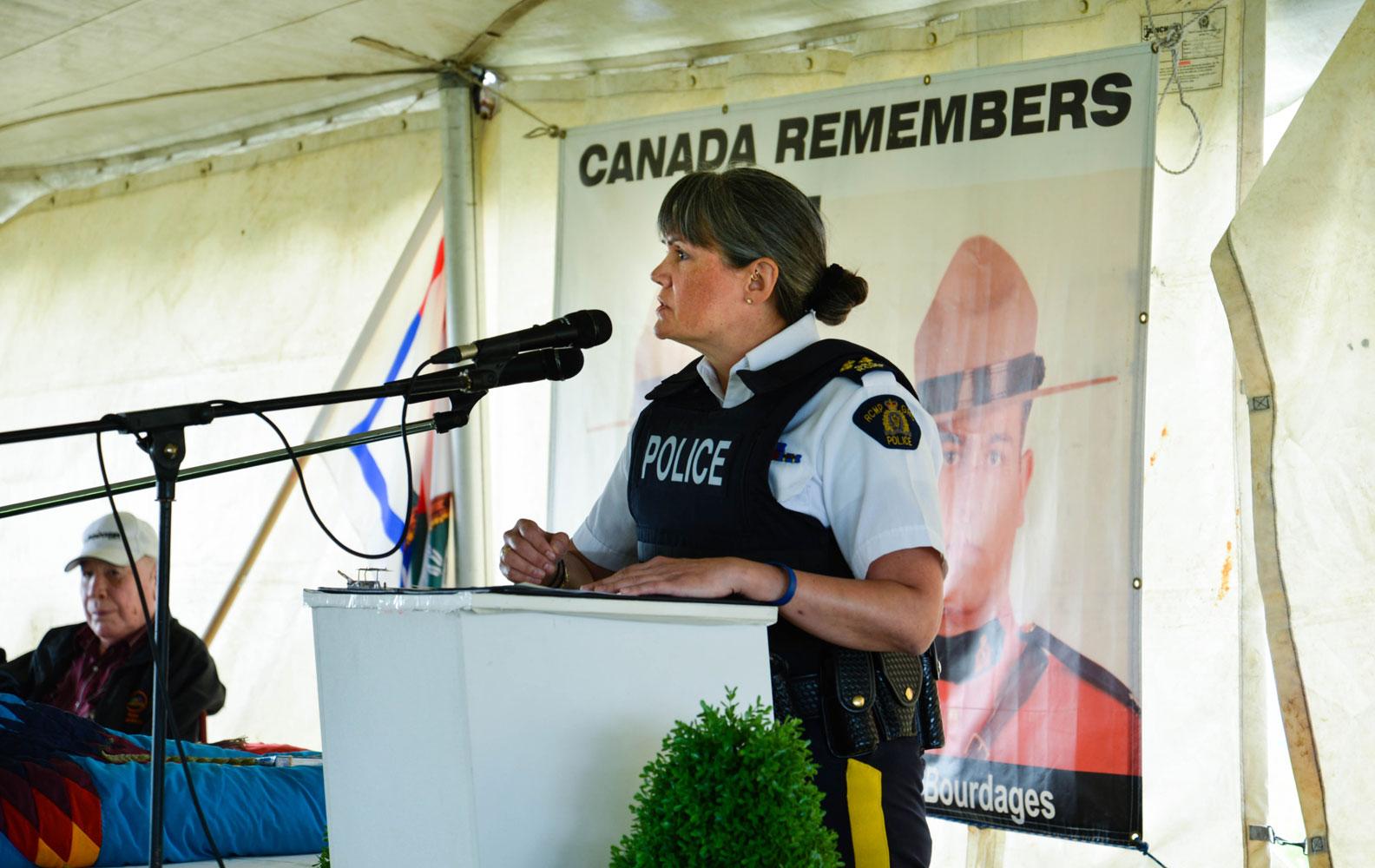 RCMP F Division Commander Brenda Butterworth Carr.