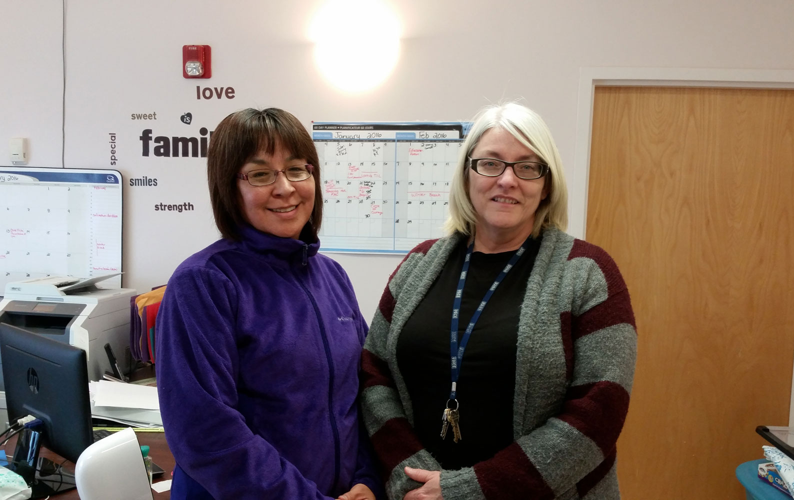 Georgina Jolibois and Lorna Lemaigre at the Friendship Centre
