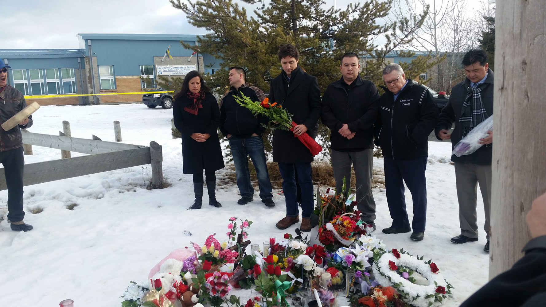 Prime Minister Justin Trudeau visited La Loche about one week after the shooting.