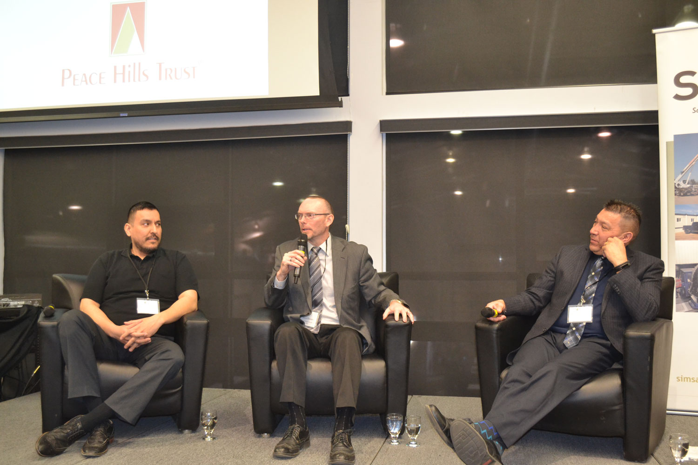 Panelists Rick Stefanowski, Steve Danners, and Kelly Bitternose.