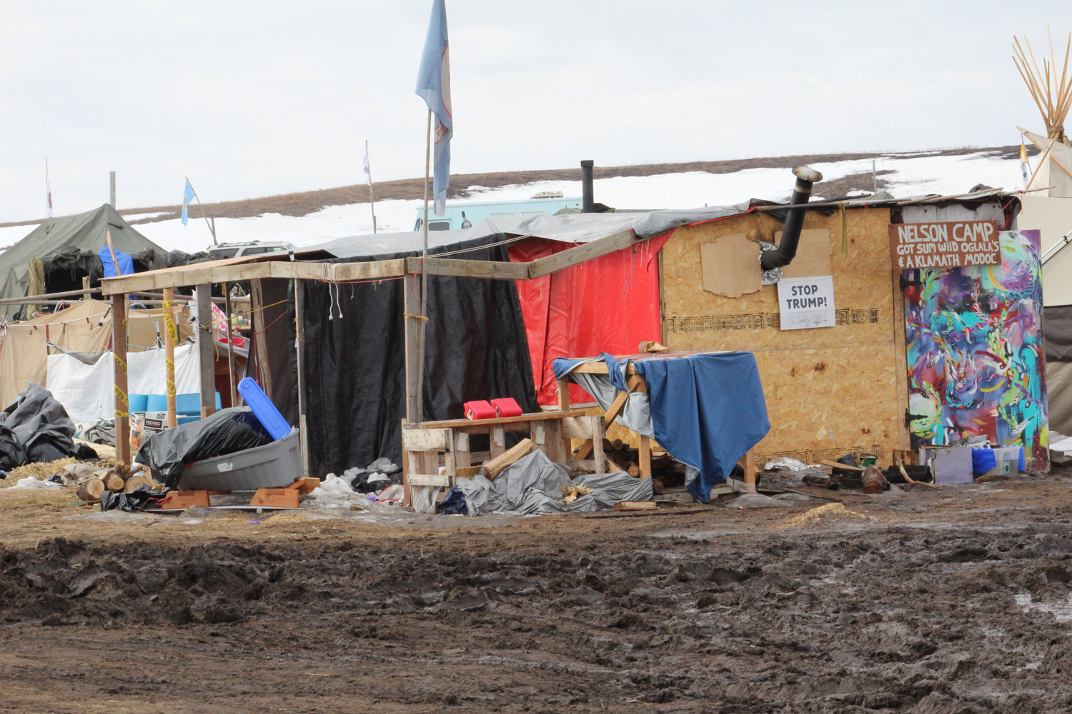 A water protector's home