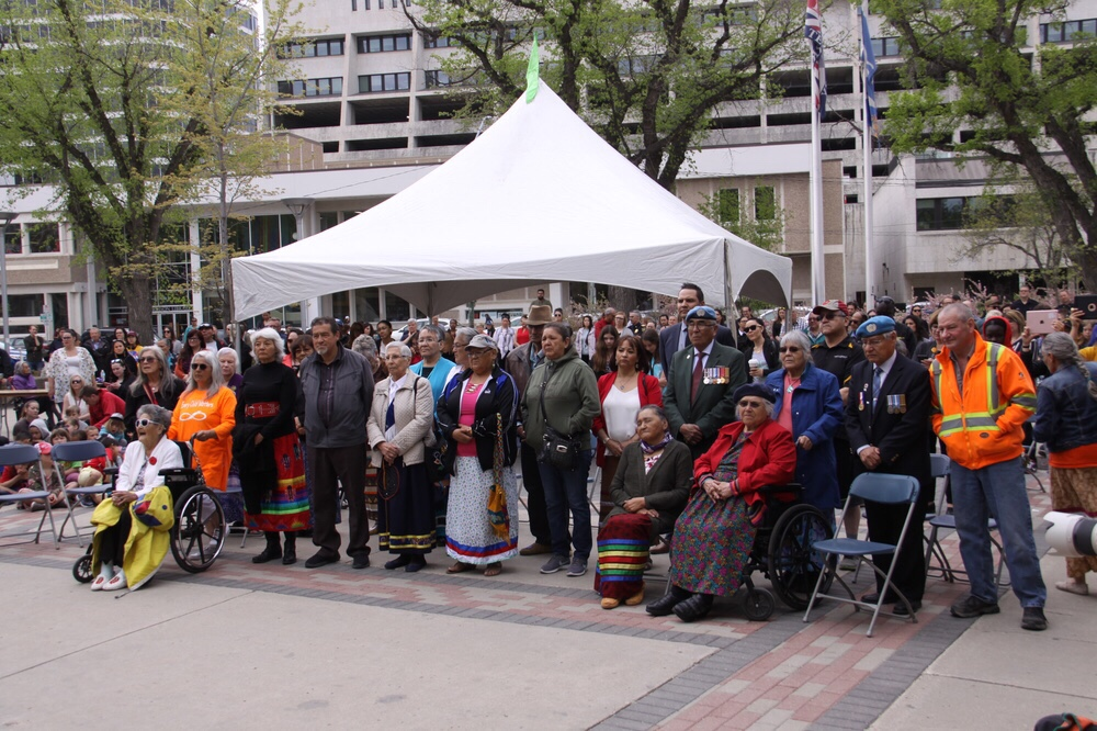 The residential school survivors honoured that day.