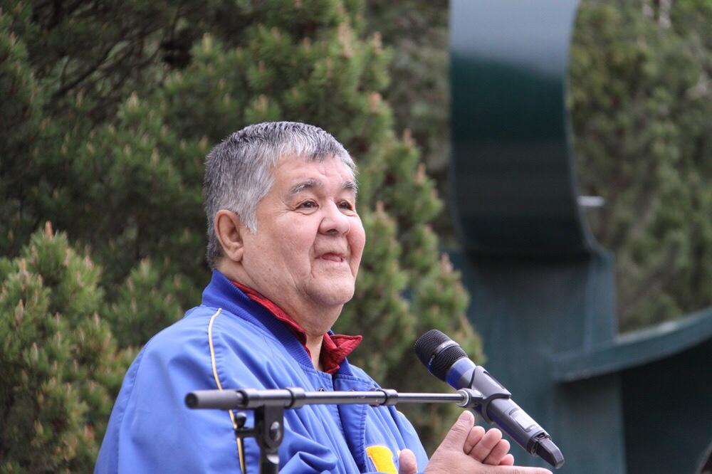 Survivor and elder Frank Badger shared his story.