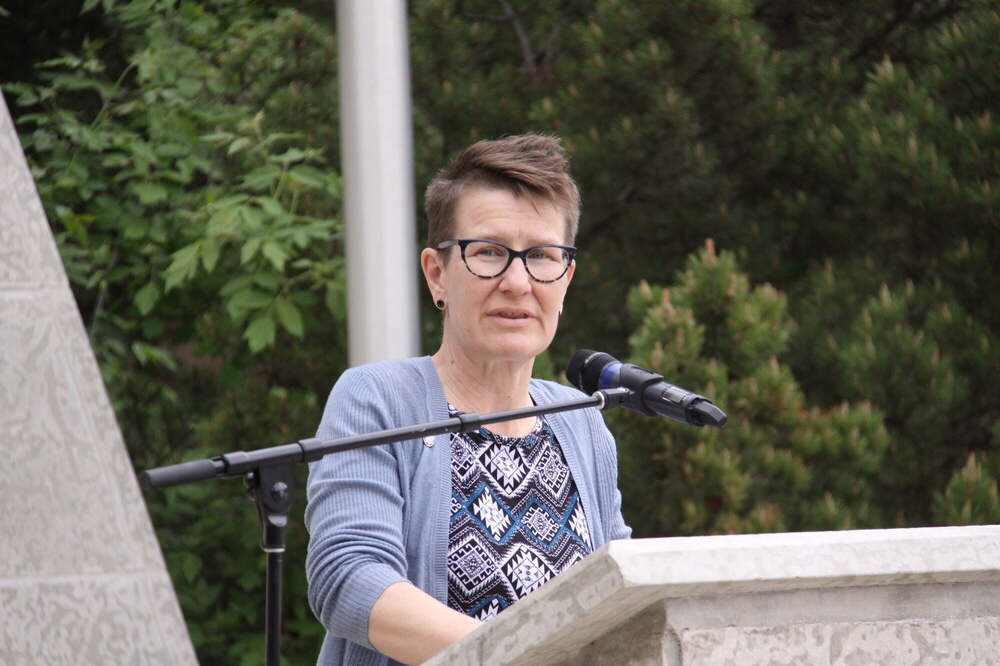The Right Reverend Jordan Cantrell, Moderator of The United Church of Canada, made a passionate plea for allies.