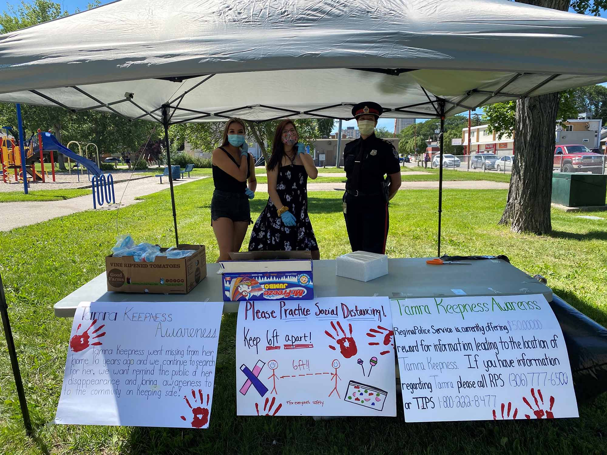 Regina Police Service volunteered at the annual Awareness Event for Tamra Keepness hosted by Regina Treaty/ Status Indian Services.