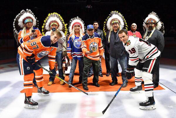 Honoured at the Edmonton Oilers game