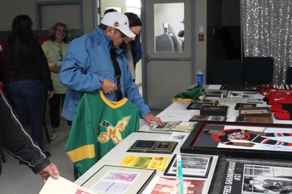 Freddie Sasakamoose at his annual hockey tournament.