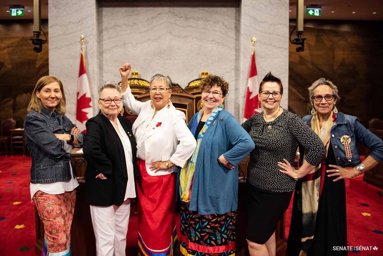 Indigenous Senators 2019: Patti LaBoucane-Benson, Sandra Lovelace Nicholas, Lillian Dyck, Yvonne Boyer, Margaret Dawn Anderson, Dr. Mary Jane McCallum
