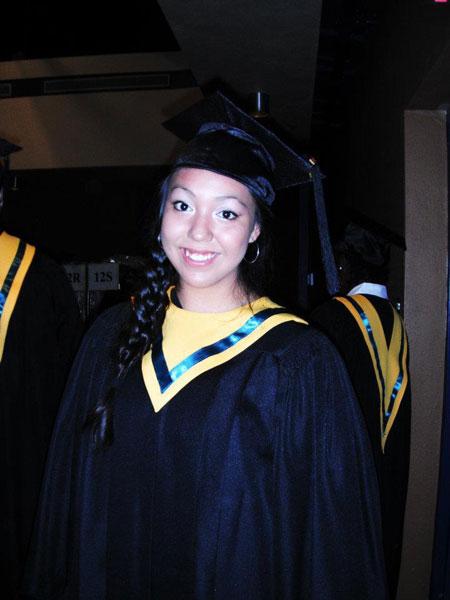 Feather Pewapisconias graduated from Campbell Collegiate in Regina.