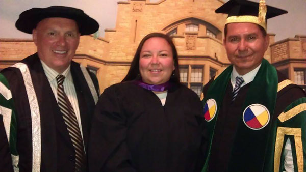 Kimberly Daniels graduated from the college of education.