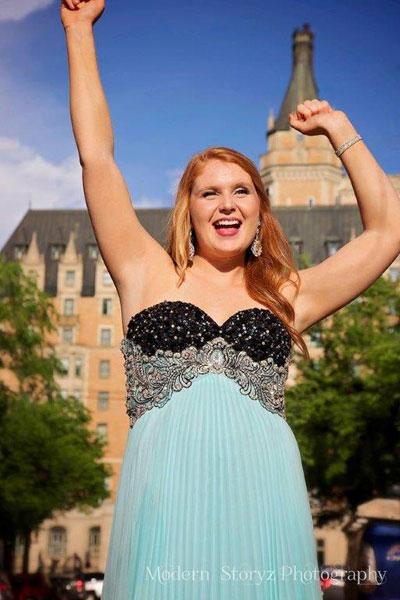 Lexi Brunet who graduated June 25 from St. Joseph High School in Saskatoon.