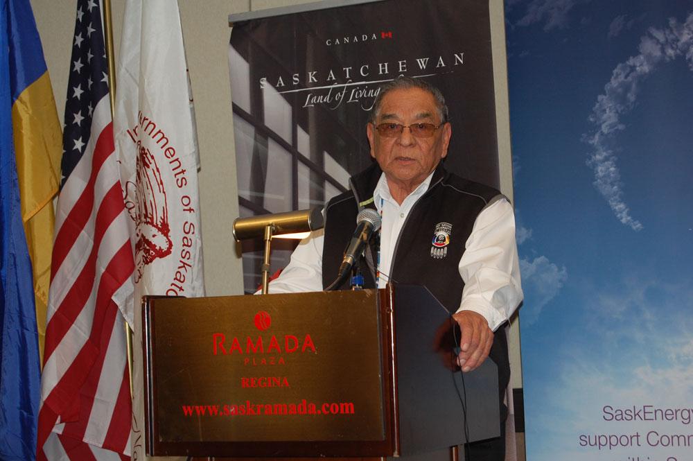 Elder Tony Cote announcing NAIG's symbols.