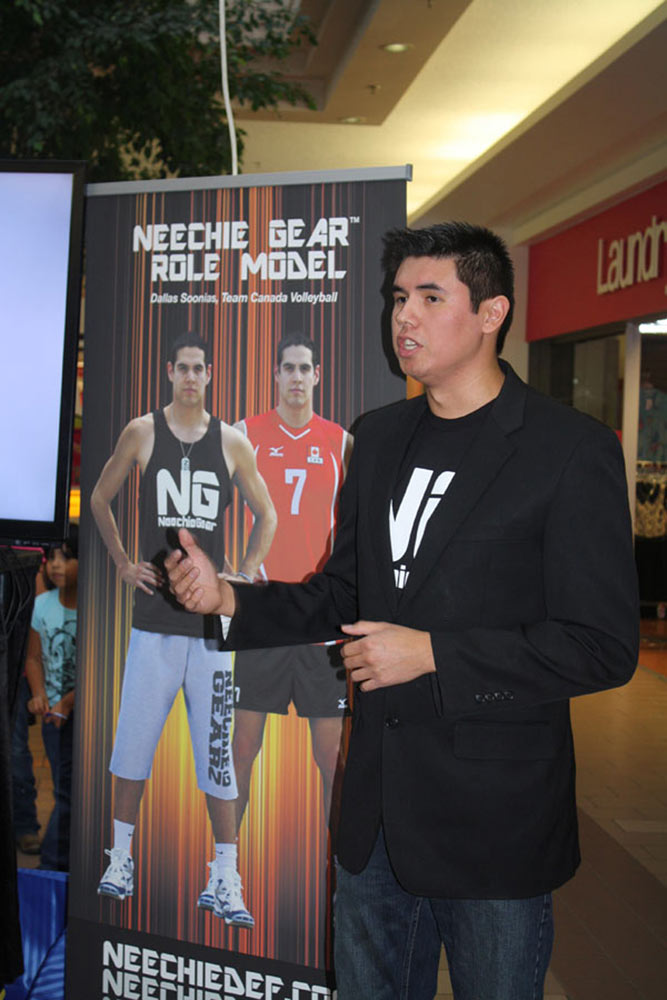 Neechie Gear CEO Kendal Netmaker unveiled the video story of the idea behind his company. At the unveiling, Netmaker was joined by his childhood friend, Johann Brianne, whose family paid Netmaker's sports fees and drove him to practices - ultimately the inspiration behind Neechie Gear, a lifestyle clothing brand where a portion of proceeds help fund underprivileged youth to play sports. As a way of paying it forward, Netmaker announced a quarterly donation of $1,500 to KidSport Saskatchewan so kids will be given the opportunity to play sports.