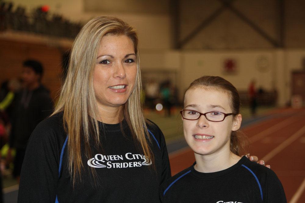 Reila Bird and her daughter, Juleah Duesing, both championship runners.