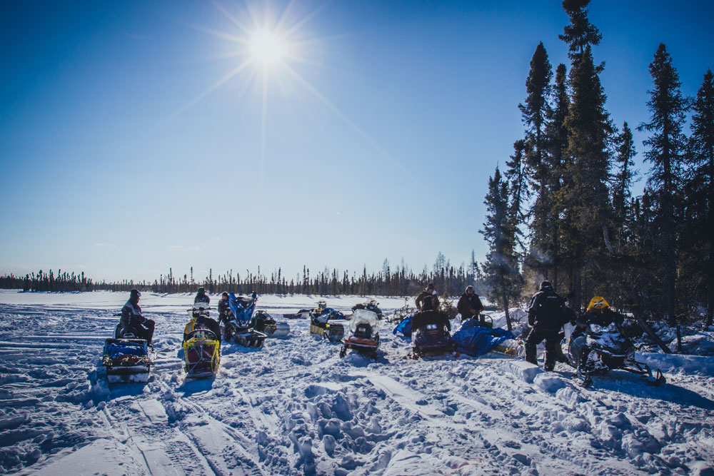 An early spring Arctic hunt for the 2014 Saskatchewan First Nations Winter Games.
