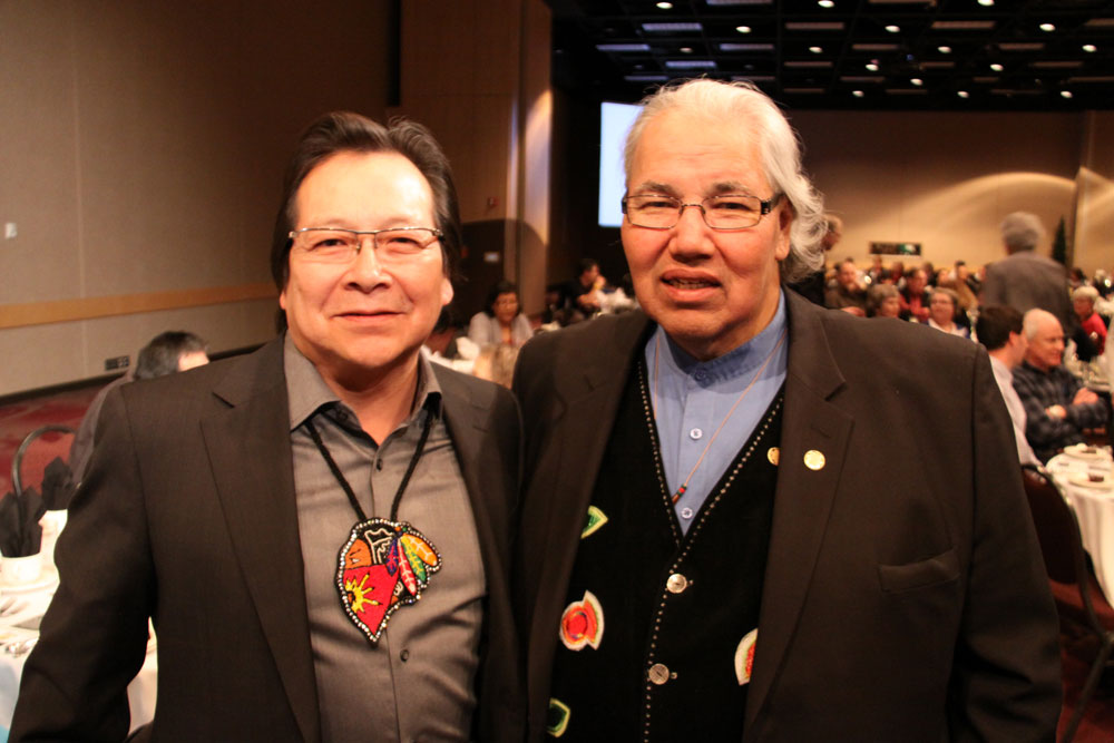 Saskatoon lawyer Don Worme and Justice Murray Sinclair, Chair of the Truth and Reconciliation Commission.