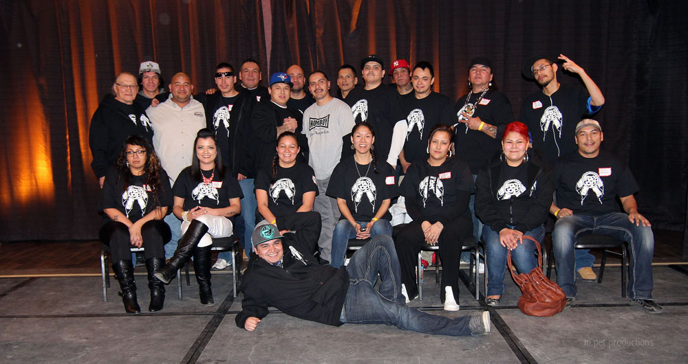 STR8UP members who attended and spoke at the 10,000 Little Steps to Healing conference in Saskatoon