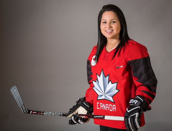 Brigette Lacquette was the first Indigenous player on Canada's female Olympic hockey team, which won silver at the 2018 Olympics.