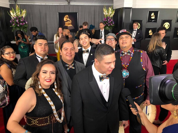 Members of Young Spirit on the red carpet at the 2019 Grammy's