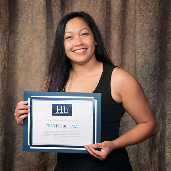 Buffalo also received the 2016 Saskatchewan Hotel and Hospitality Association Chairman's Scholarship.