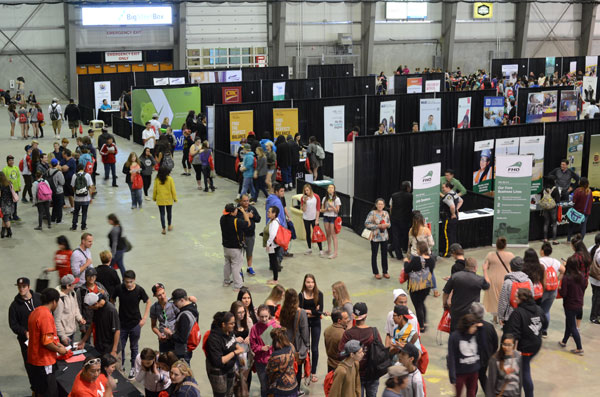Students from Regina and surrounding rural areas and First Nations were invited to attend Stepping Stones Career Fair 2017.