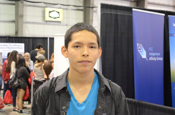 Kail Lerat, from Ochapowace Nation, wants to become an RCMP officer after he graduates.