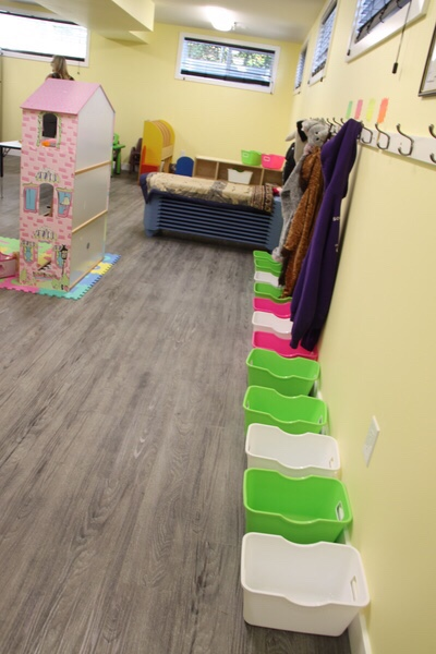 The daycare space,