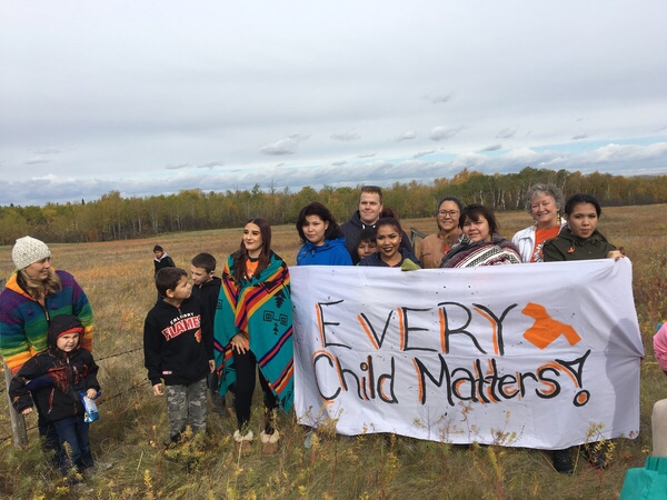 Students and community members of North Battleford gathered for Orange Shirt Day and to honour the students of residential schools.