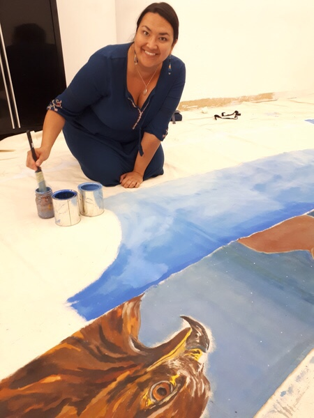 Jori Cachene is happy for the opportunity to paint all summer.