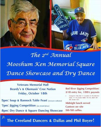 Mooshum Ken Memorial Square Dance Showcase and Dry Dance