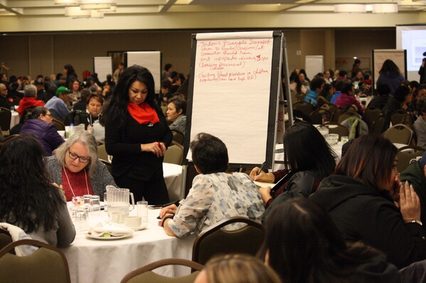 22cf4aaa828 Groups during the breakout sessions at the Jordan s Principle Forum in Saskatoon  discuss health