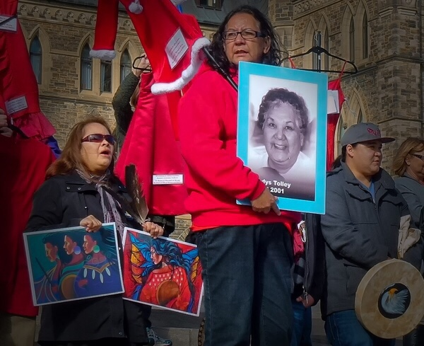 Missing and Murdered Indigenous Women and Girls vigil in Ottawa.