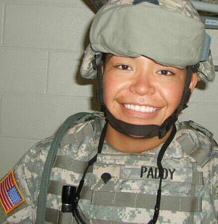 Crystal Paddy, 40, from Thunderchild First Nation enlisted into the U.S. Army in 2004 and was released with an honourable discharge in 2010.