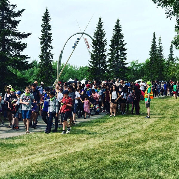 "Over 4,000 people participated in the third annual ""Rock Your Roots"" Walk for Reconciliation on NIPD in Victoria Park. Photo supplied by the City of Saskatoon."