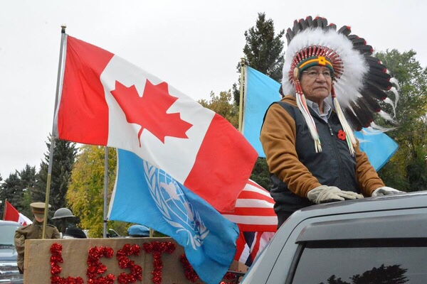 Veteran Steven Ross is served overseas and is now the Grand Chief of the Saskatchewan First Nations Veterans Associatioin.