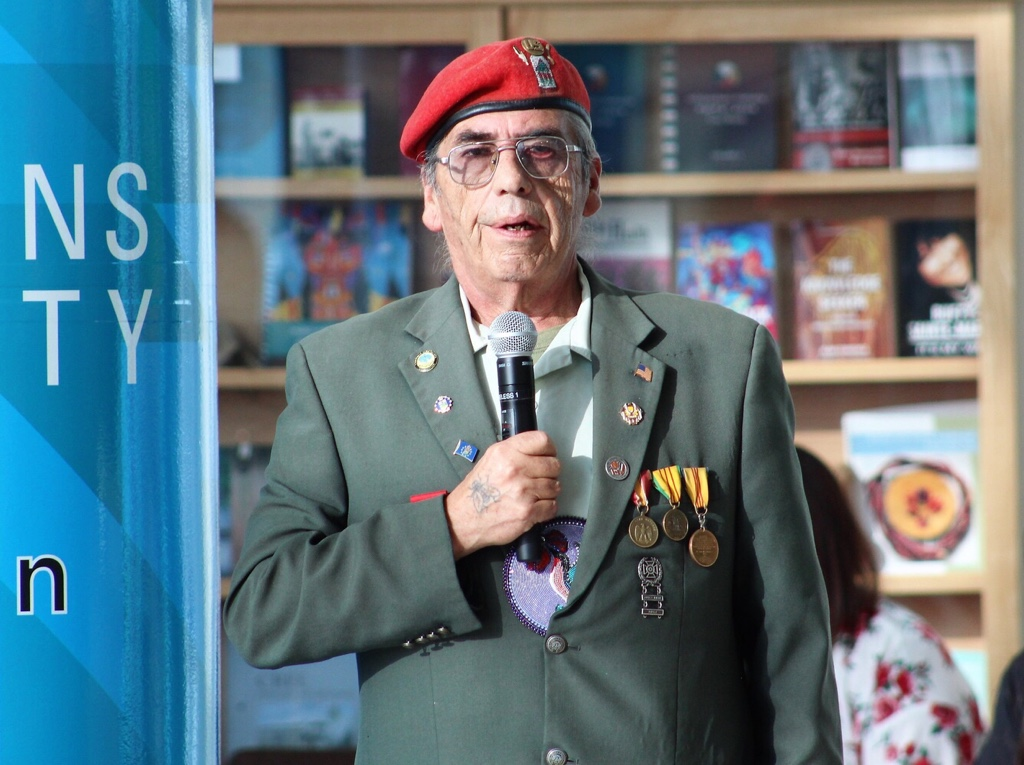 "Veteran Ron ""Rocky"" Redwood is thankful for other veterans who sacrificed their lives for the future of Indigenous peoples."