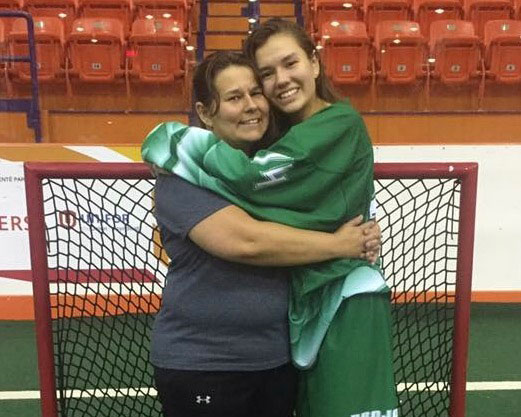 Darcy Ratt and Annakah Ratt coached and played for Team Saskatchewan's first-ever 19U female box lacrosse team at the 2017 NAIG.