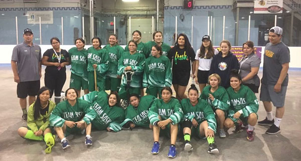 Despite injuries and the extreme heat the Team Sask 19U female lacrosse team placed fourth overall at NAIG in Toronto. Team manager and coach Darcy Ratt (back row, second right) said that many of the young women stepped out of their shell by the end of the week.