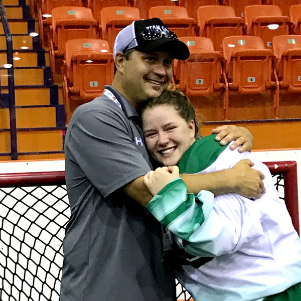 Coach Tyson Fetch and daughter Olivia Fetch were members of Team Sask's 19U female box lacrosse team. NAIG 2017 was 18-year-old Olivia's last lacrosse tournament.